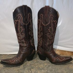 Corral Women's Boots: LDS Brown WT with Studs